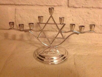 MENORAH STERLING Silver Signed C. Zurita D. F. Mexico 340 Gr Or 12 OZ  c. 1940's