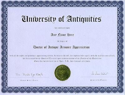 Doctor Antique Armoire Appreciation Novelty Diploma