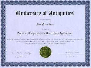 Doctor-Antique-Butter-Pat-Appreciation-Novelty-Diploma
