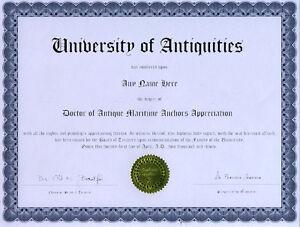 Doctor-Antique-Maritime-Anchor-Appreciation-Diploma