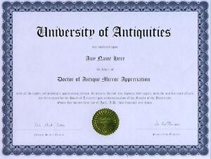 Doctor-Antique-Mirror-Appreciation-Novelty-Diploma