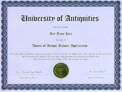 Doctor Antique Armoire Appreciation Novelty Diploma