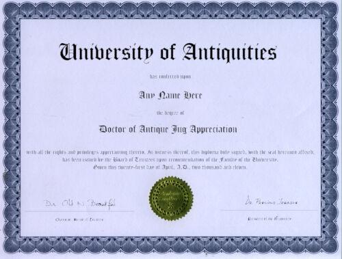 Doctor Antique Glass Jug Appreciation Novelty Diploma