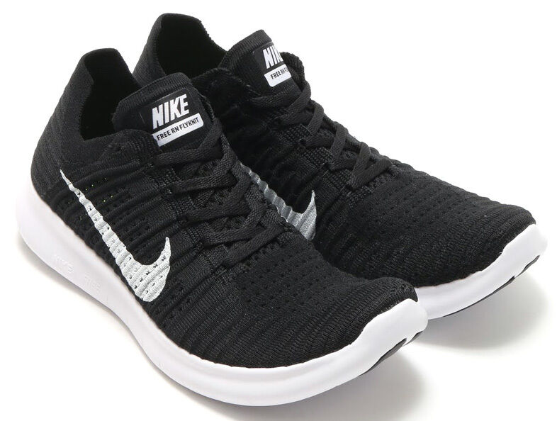 Nike - Nike Free Rn Flyknit, Men's sizes 10.5 - 13 (D), Black / White 831069-001, NEW
