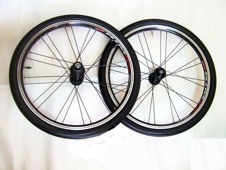 ~~~ 406 ALuMiNIum 20ins RaCinG Wheel Set for FoLDie BiCYCLe $178 ~~~