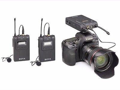 BOYA BY-WM8 UHF Wireless Dual Channel Microphone fr ENG EFP DSLR Sound Recording