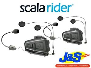 scala rider q1 teamset motorcycle intercom scooter touring rider to pillion j s ebay. Black Bedroom Furniture Sets. Home Design Ideas