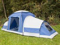 skandika Multispace 6 Person Modular Tent Pavilion & 2 Sleeping Cabins Blue
