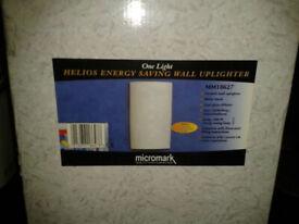 Brand New Micromark MM18627 Ceramic Helios Energy Saving Wall Uplighter