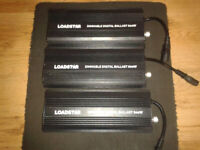 Bundle Of 3 Loadstar 600W Dimmable Ballasts For Hydroponics System.