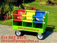 Poussette pouponbus 6 places neuf 5148828475 pouponbus.ca
