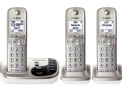 New Panasonic KX-TGD223N dect 6.0 3-Cordless Handset Landline Telephone