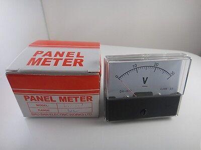 Analog Volt Voltage Voltmeter Panel Meter Dh-670 Dc 0-30v