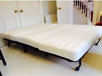 Ikea Lycksele-lovas two-seat sofa bed white