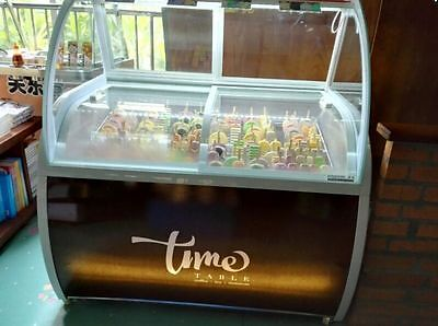 New 48 Popsicle Freezer Ice Cream Display Case Led Lighting Showcase Icesucker