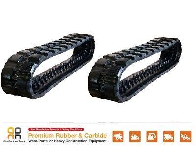 2 Pcs 15.7 Wide Rubber Track 400x86x52 Takeuchi Tl10v2 Skids Steer