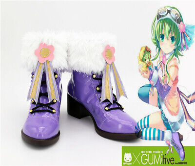 GUMI GUMItive Megpoid Vocaloid Cosplay Costume Kostüme Schuhe Shoes Lila - Gumi Megpoid Cosplay Kostüm