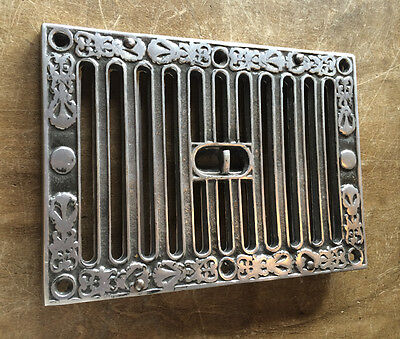 OPEN & CLOSE SLOTTED AIR VENT VICTORIAN ANTIQUE KENRICK HIT & MISS 9x6