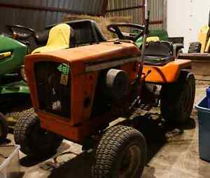 Allis Chalmers tractor with mower attachment
