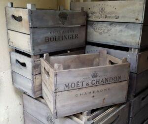 LARGE Champagne Crate. Vintage Fruit crates. Firewood Log Basket Storage Box