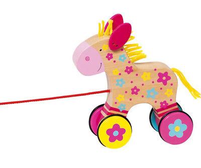 Ziehtier PFERD Clahra Ziehpferd Nachziehtier Holzpferd Pony Holz Susibell NEU