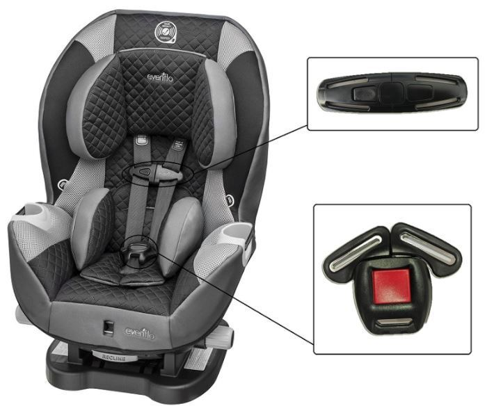 Evenflo Advanced SensorSafeEmbrace DLX Car Seat Harness Ches