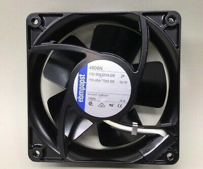 Ebmpapst 4606n Axial Fan High Temperature 115v 20w 38mm X 119mm Sq