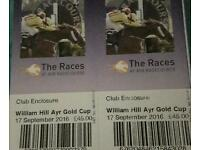 Club tickets Ayr gold cup 17 Sept