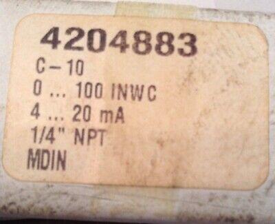 Wika Pressure Transmitter 4204883 C-10 Nos