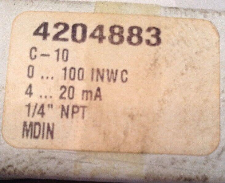 Wika Pressure Transmitter 4204883 C-10 NOS!