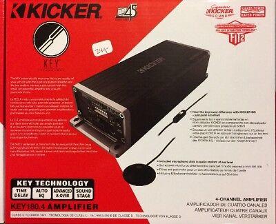 Kicker KEY180.4 / 45KEY1804 180 Watts RMS 4-Channel Car Amplifier 180 Watt 4 Channel
