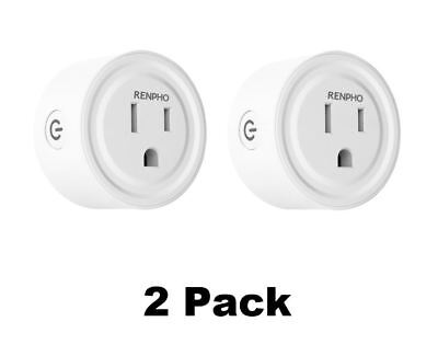 2x Mini WiFi Smart Plug work with Echo Alexa Google Home Schedule Remote Control