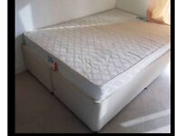 Double Divan bed +Mattress -Includes Delivery