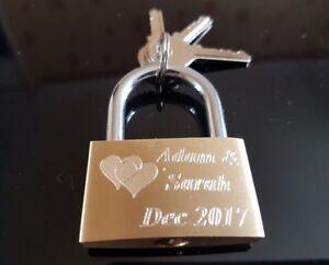 Personalised Engraved Love Lock Padlock 40mm - FREE ENGRAVING-Best quality