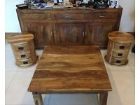 Goa matching Furniture - Sideboard, Table & 2 x Barrels