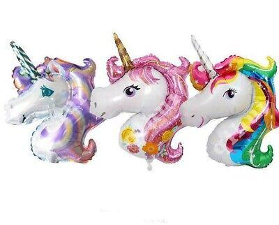 Mini Unicorn Rainbow Foil Party Balloon Unicorns Party Supply US Seller - Rainbow Unicorn Party Supplies