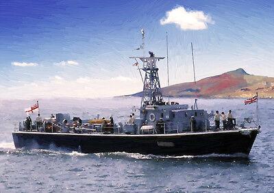 HMS FLINTHAM -  LIMITED EDITION ART (25)