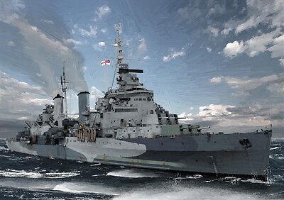 HMS BELFAST - ARCTIC CONVOYS WW2 - LIMITED EDITION ART (25)