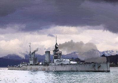 HMS PRINCESS ROYAL -  LIMITED EDITION ART (25)