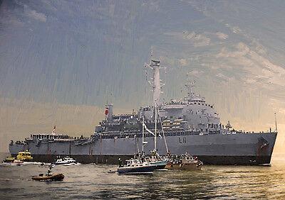HMS INTREPID '82 Return' - HAND FINISHED, LIMITED EDITION ART (25)