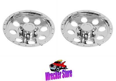 """Used, Set of 2 - 12"""" ABS CHROME PLATED WHEEL COVER, HUB CAP for Trailer, Mower, Dolly for sale  Newbern"""