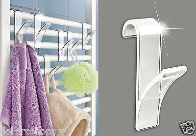 Set 3 ganci gancio Termoarredo per il bagno asciugamani accappatoi EFFETTO BLUET