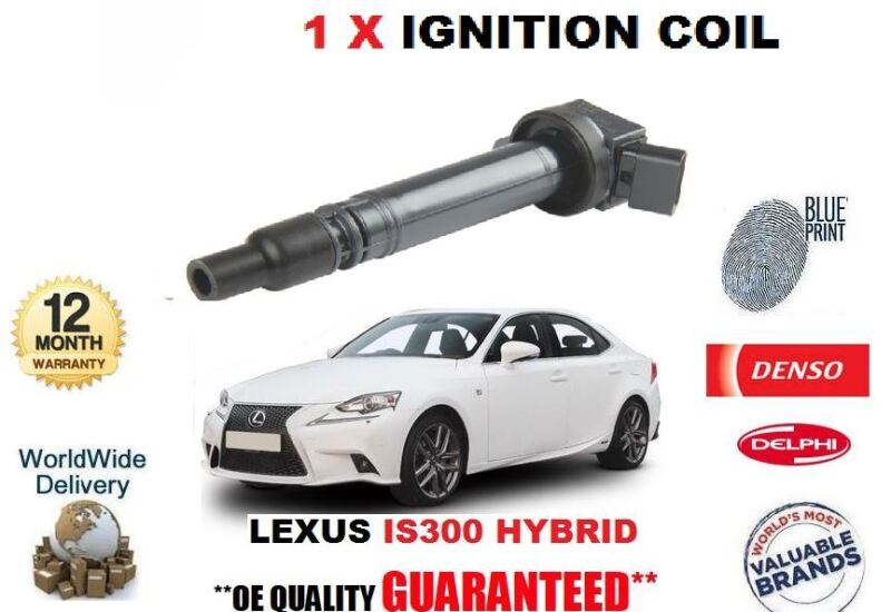 FOR LEXUS IS300 HYBRID 2013-> NEW 1 X IGNITION COIL PENCIL TYPE OE 90919-02256