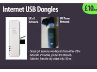 Internet Dongles USB (x2, UK) o2 /or Three networks. £10ea