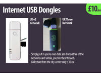USB Internet Dongle Modems (3G/GSM type) x2, £10 each.