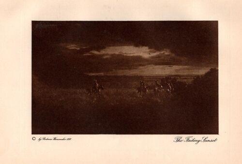 Vintage Wanamaker Indian Photogravure #3 - The Fading Sunset