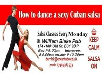 Encantado Salsa Night for all levels.inners Begonners 7-8.00pm,Improvers 8-9.00pm,Int.adv 9-10.00pm.