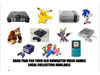 LOOKING FOR OLD, NINTENDO, SEGA AND PS1 VIDEO GAMES.