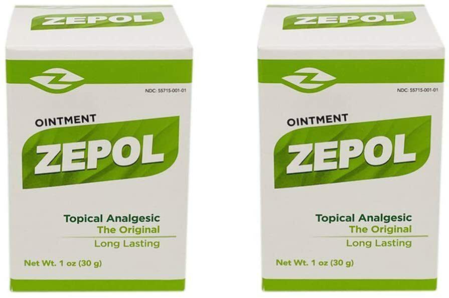 2 Pk Zepol Analgesic Ointment Muscle Ache Joint Pain Backache Dolor Muscular 1oz