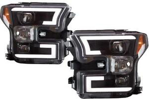2015-2017 Ford F-150 Spyder LED Light Bar Projector Headlights with Black Housing | Free Shipping at motorwise.ca